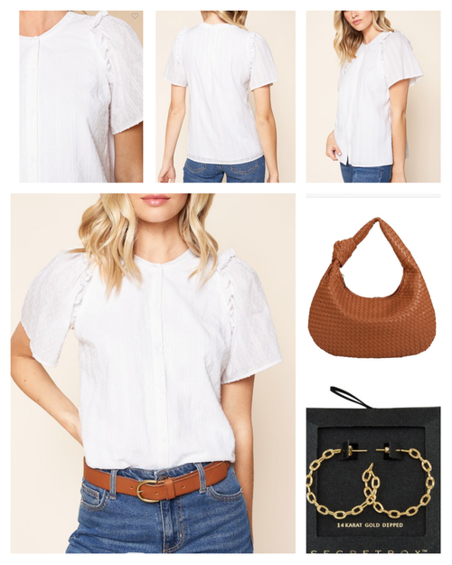 Jefferson White Blouse