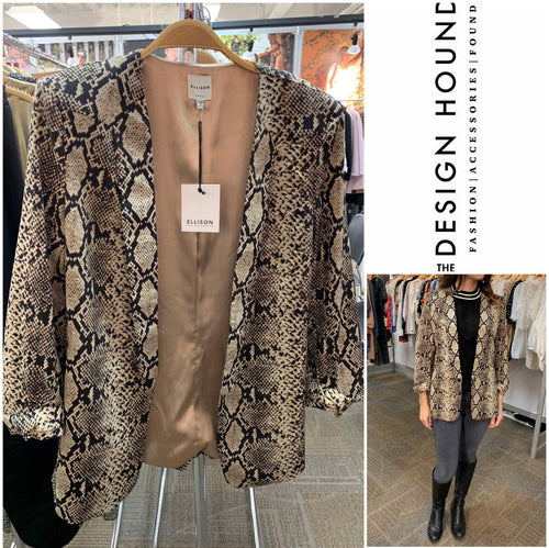 Downtown Snakeskin Blazer