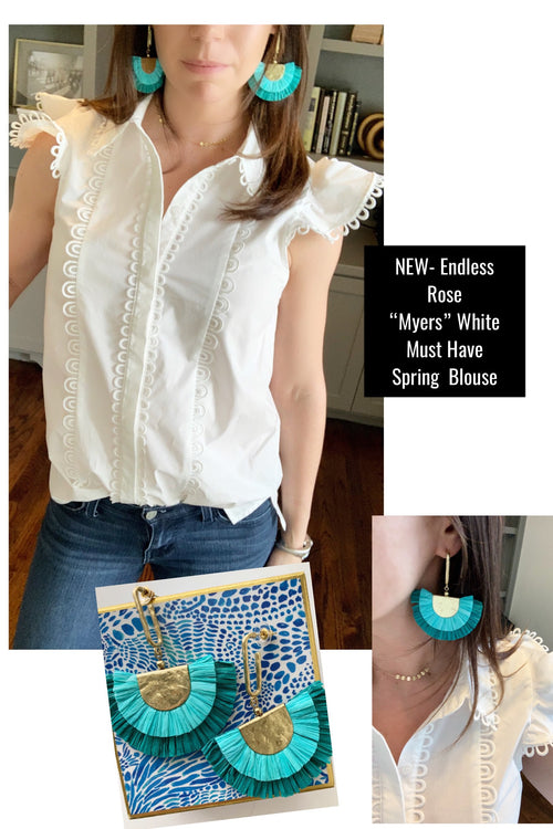 Purdue White Blouse by Endless Rose