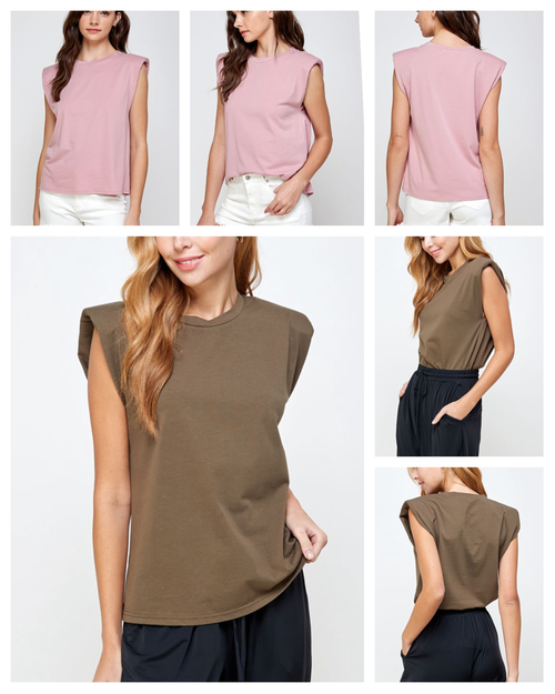 Francisco Padded Shoulder T- Shirt