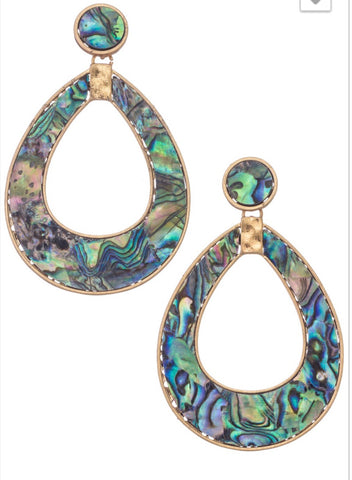 Tweed Circle drop statement earrings