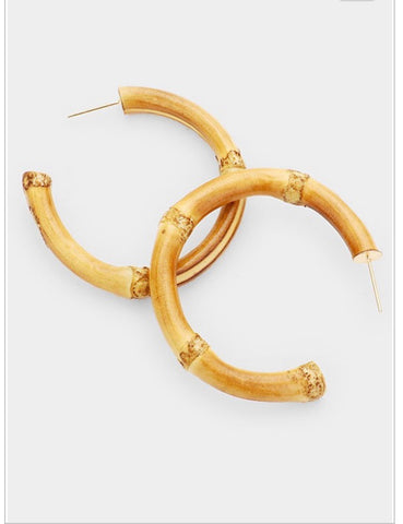 Hexagon Semi Hoop Earrings