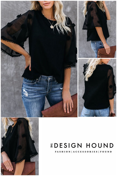 Dunston Black Top by THML Brand