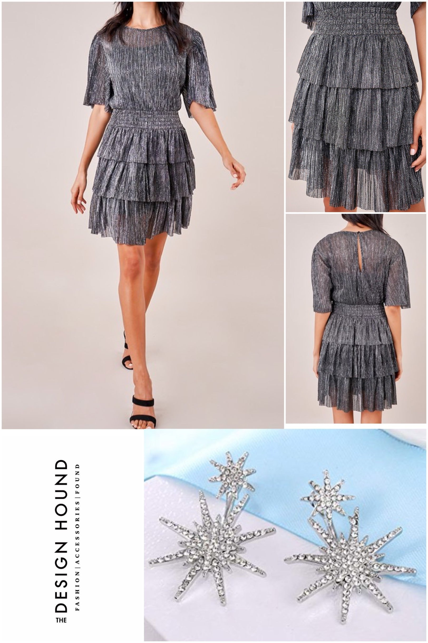 Uptown Metallic Party Dress