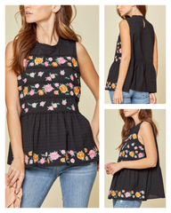 Tulum Black Sleeveless Top