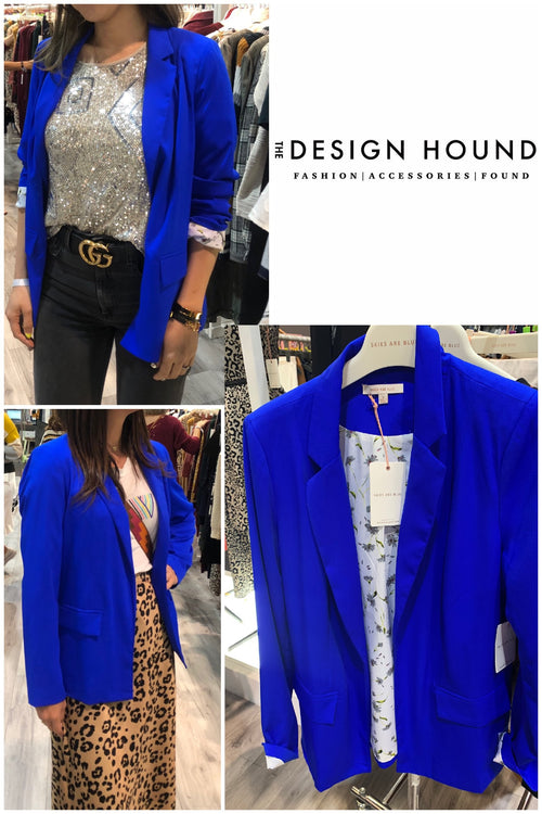 Midtown Blue Blazer by Skies are Blue Brand