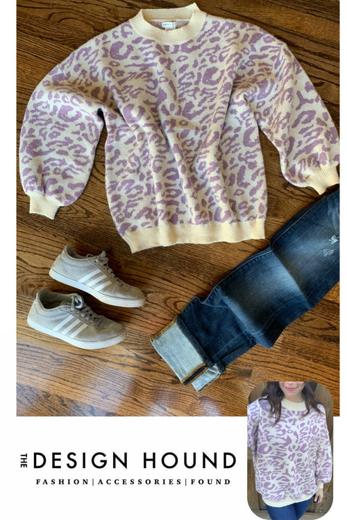 Savannah Lavender Leopard sweater