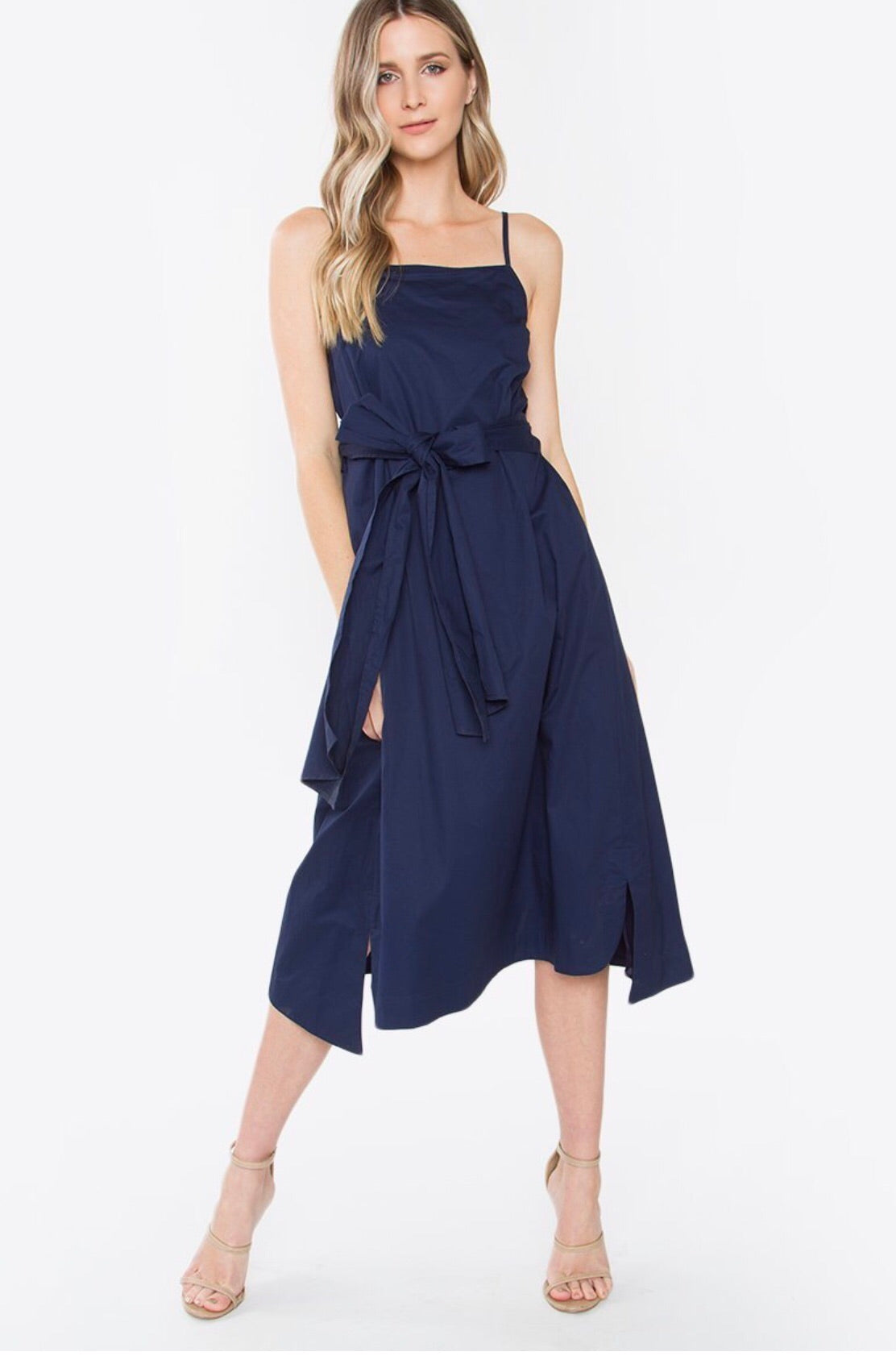 Hamptons Navy Midi Dress
