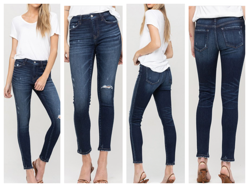 Charles Mid Rise Skinny Jeans