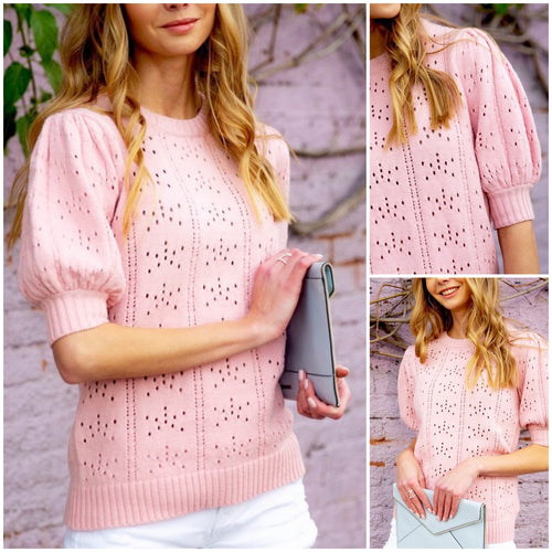Hayes Puff Sleeve Knit Top