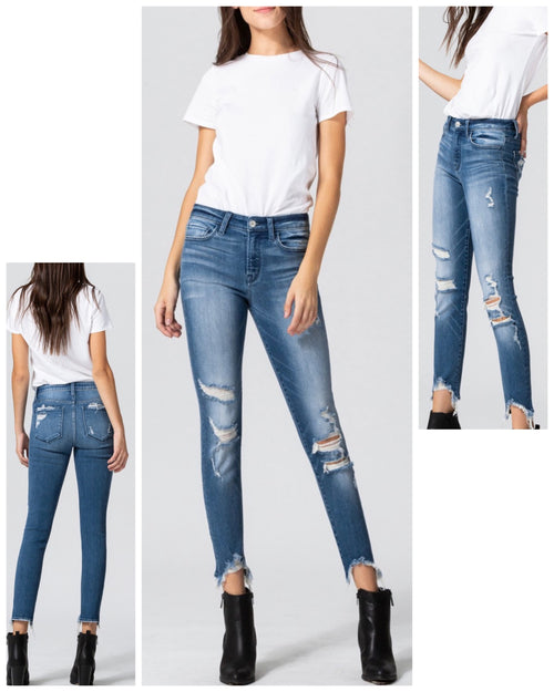 Dartmouth Shark Bite Skinny Jeans