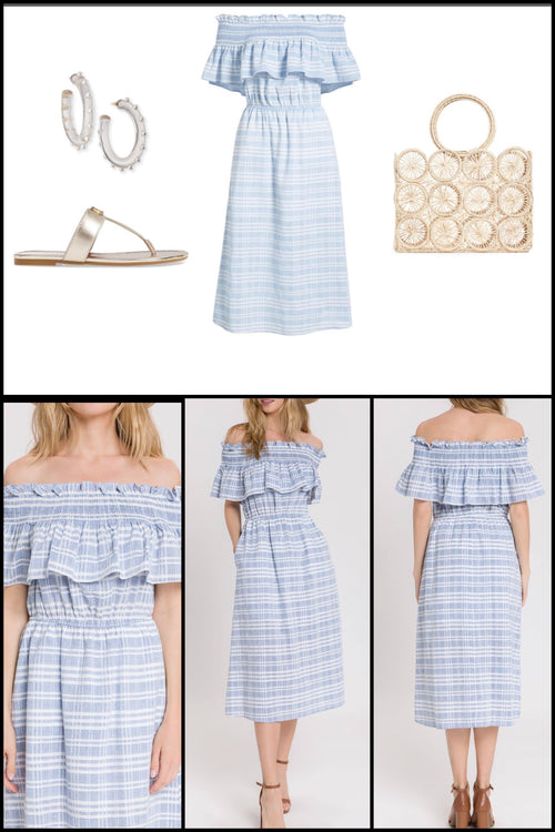 Huntington Smocked Midi Dress