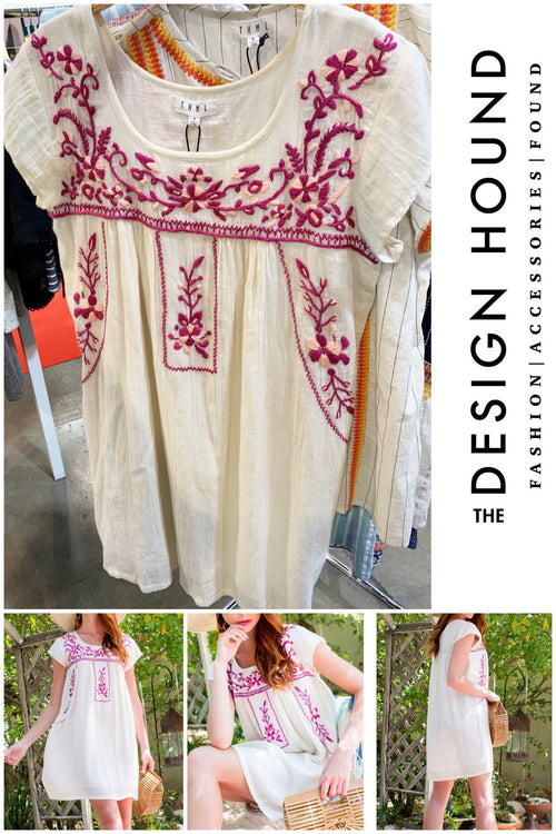 Haynie Cream Embroidered Dress by THML Brand