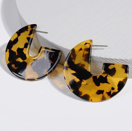 Leopard Acrylic Geometric Earrings