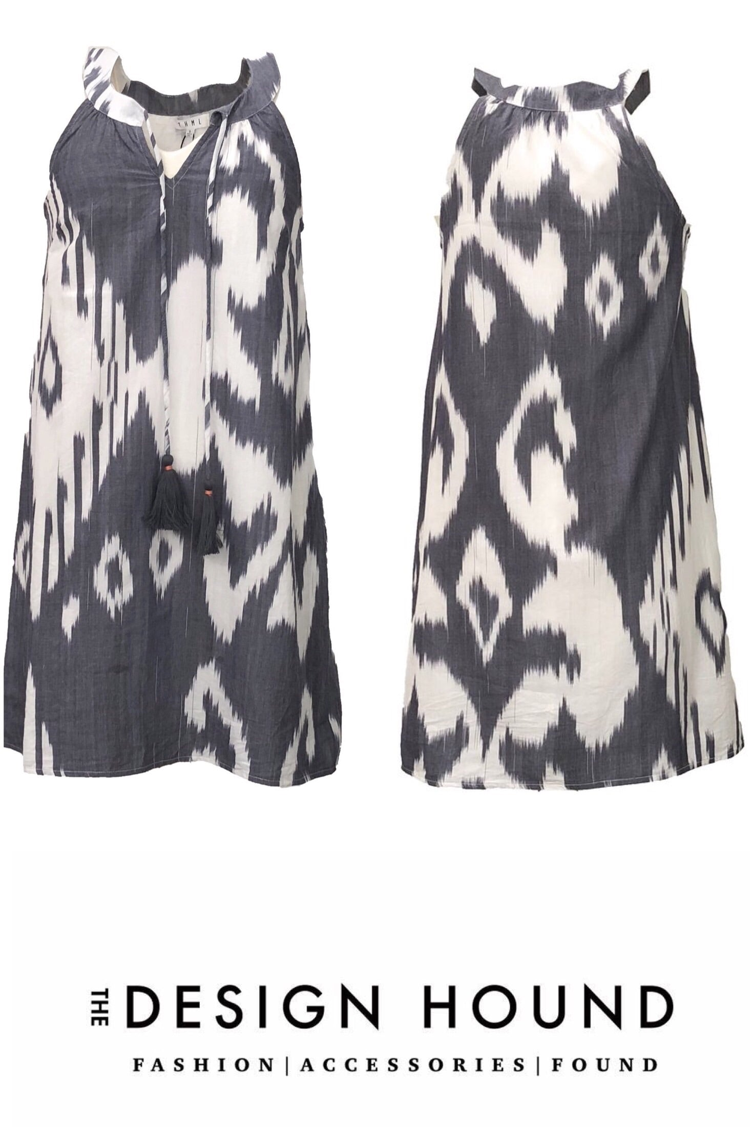 Greenbriar THML Grey Ikat Print Dress