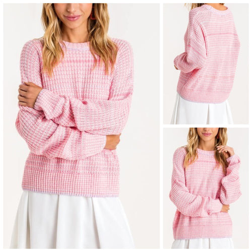 Addison Pink Knit Sweater