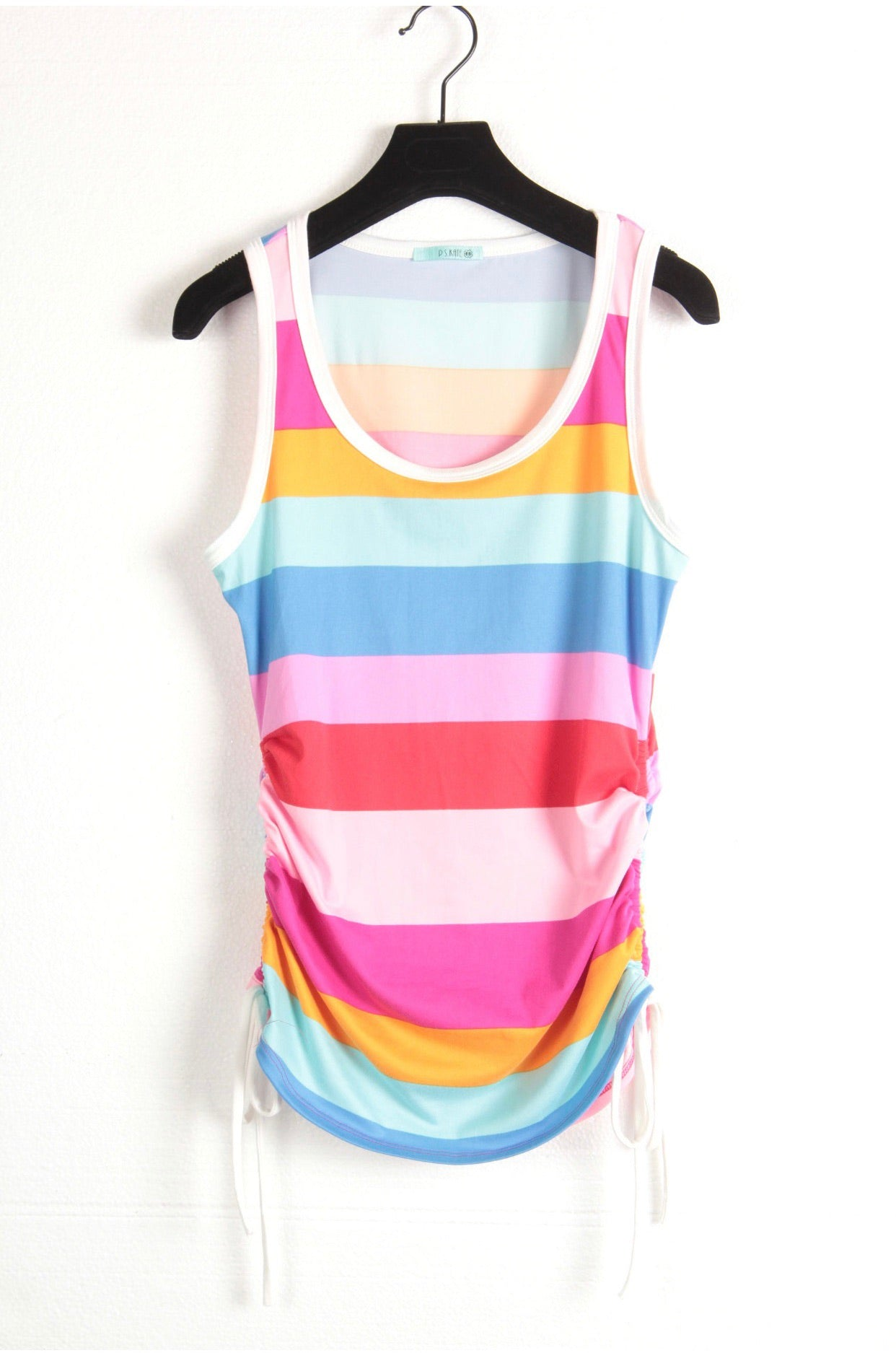 Pre Order Belize Striped tank with side drawstring