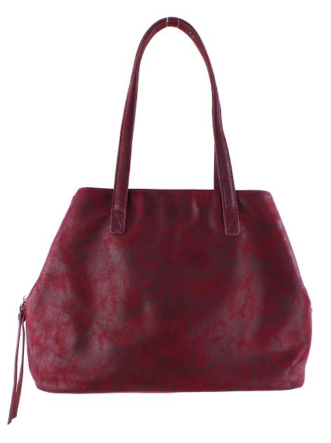 Street Level Burgundy Faux-Leather Tote