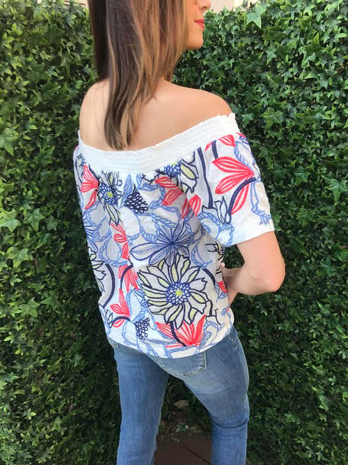 Orleans Floral Off the Shoulder Top