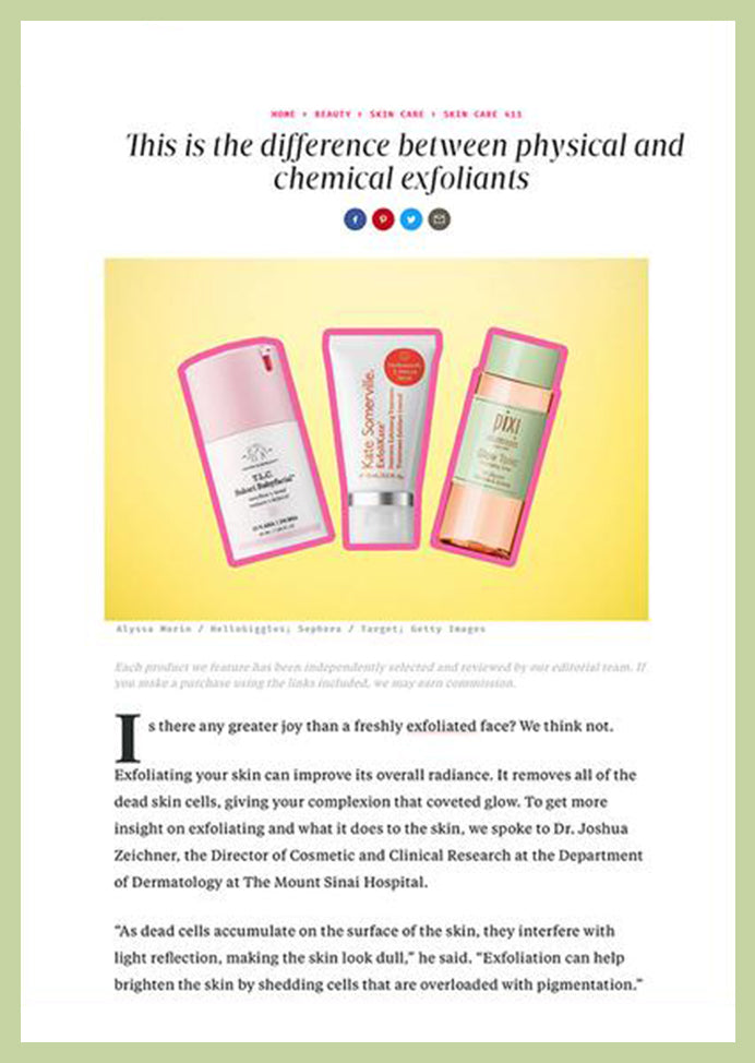 Hello Giggles - This is the Difference Between Physical and Chemical Exfoliants
