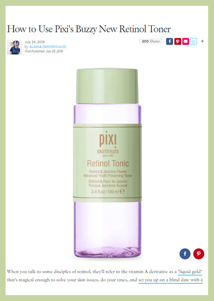 Pop Sugar How to Use Pixi's Buzzy New Retinol Toner