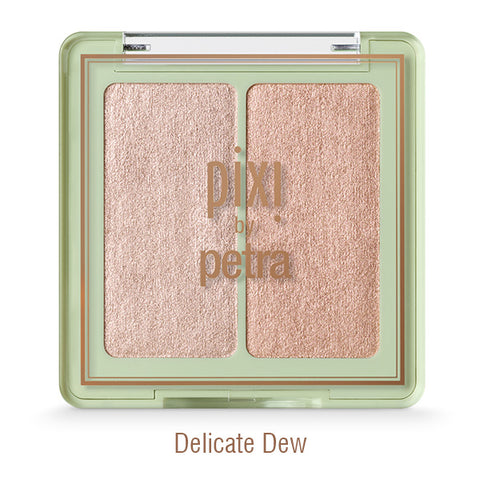 Glow-y Gossamer Duos Powder Highlighter in Delicate Dew