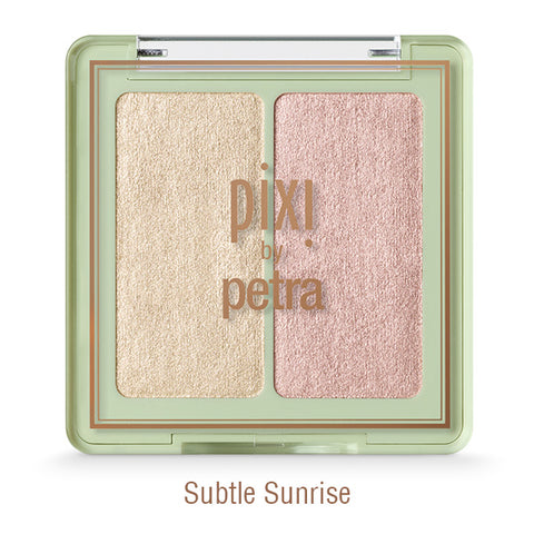 Glow-y Gossamer Duos Powder Highlighter in Subtle Sunrise