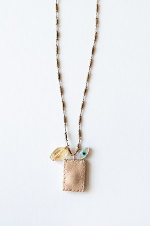Brown Rice Charm Necklace
