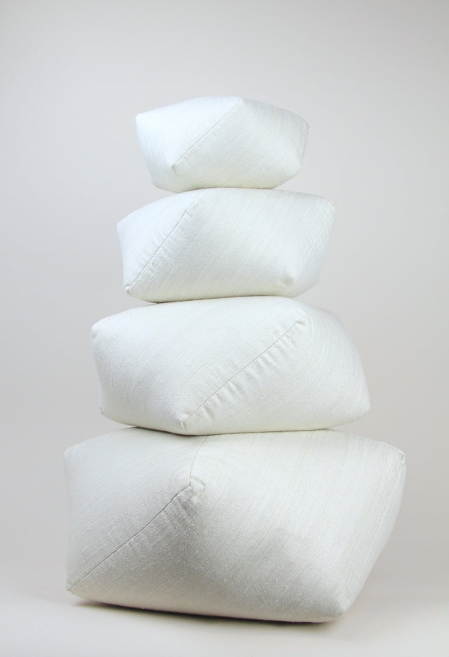 dumpling meditation silk cushion 4 sizes