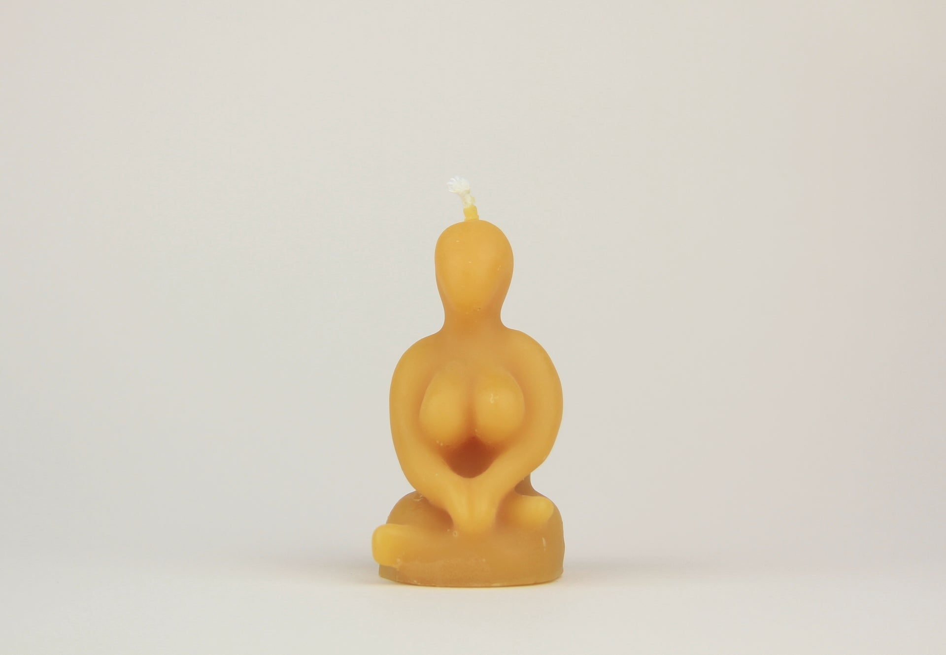 Sitting Goddess Beeswax Candle
