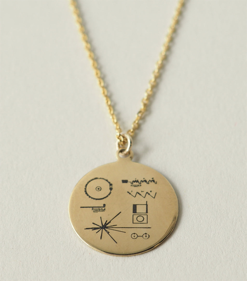 Golden Record Pendant Necklace