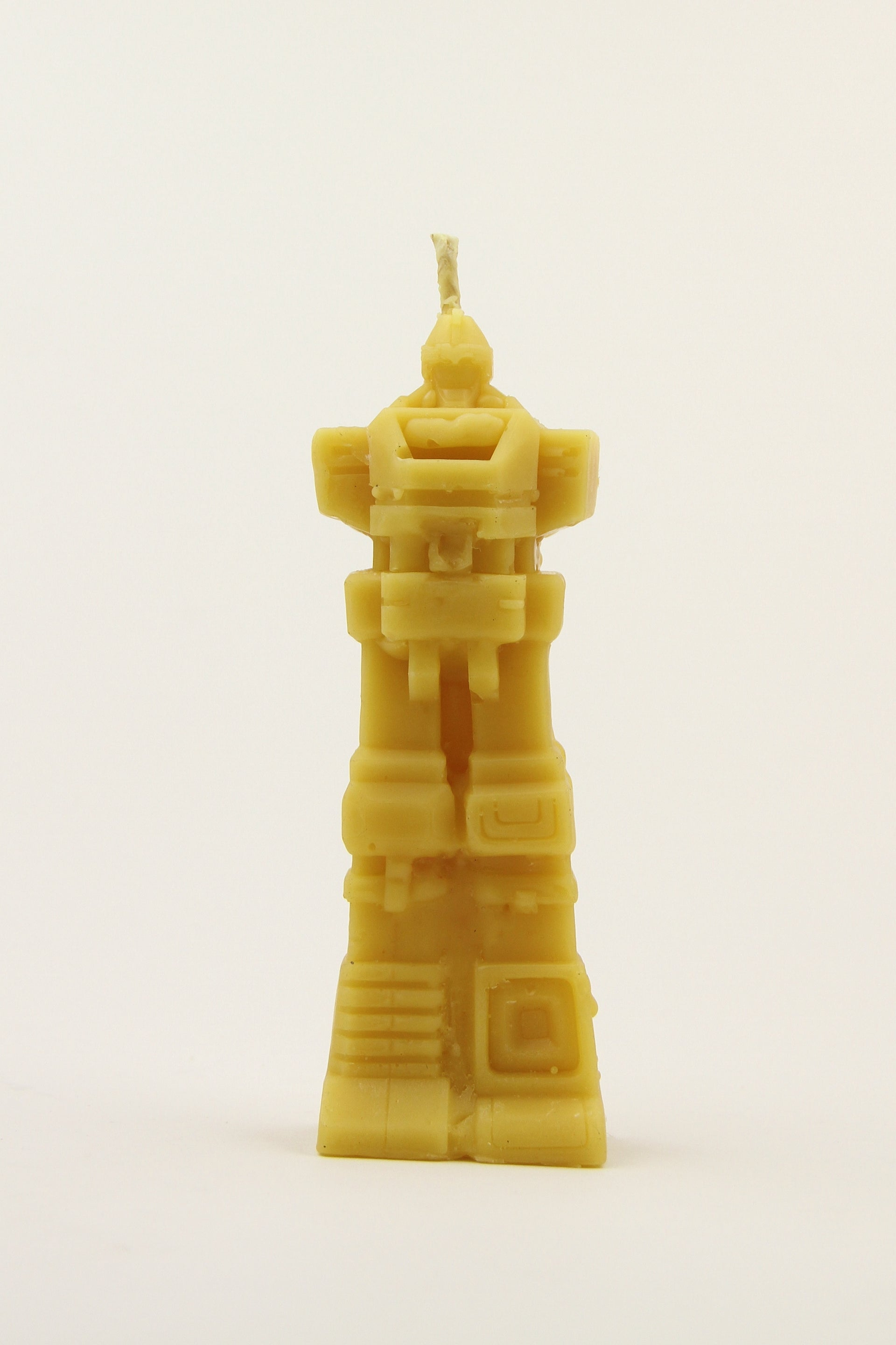 Robot Beeswax Candle