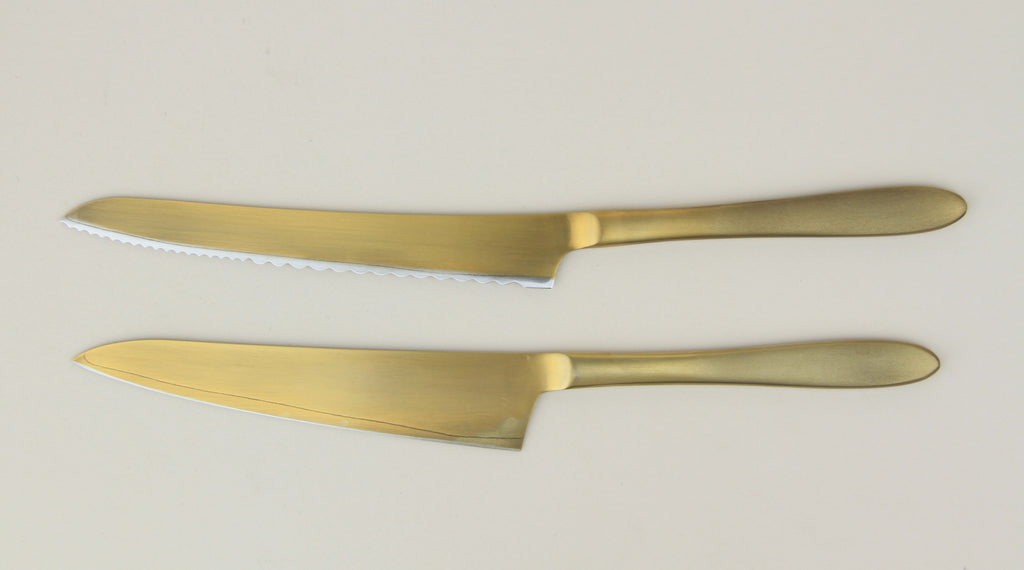 Pomme Gold Plated Knives