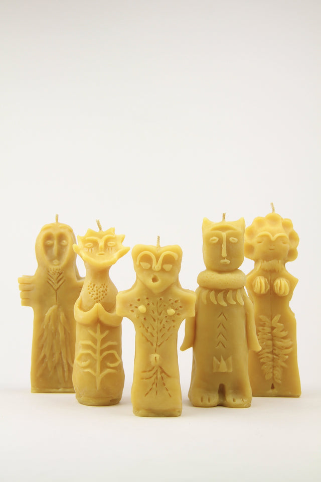 handmade beeswax japanese god & goddess candles