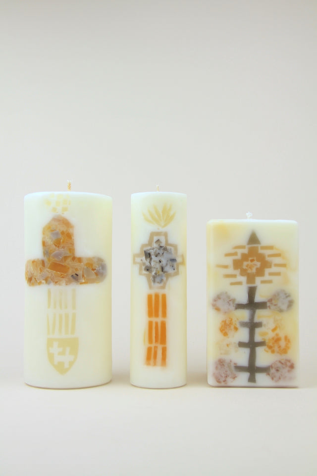 Handmade Indian Saint Beeswax Candles By Rinn