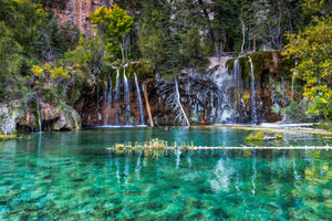 Bridal Veil Falls at Hanging Lake Colorado art