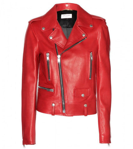 Ladies Soft Lamb Nappa Leather Biker Jacket