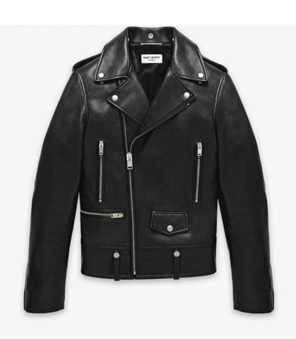 Men's Lamb Nappa  Biker Leather Jacket