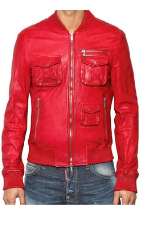 Men's Lamb Nappa Tumble Washed Leather Jacket