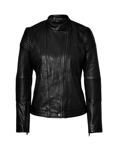 Ladies Soft Lamb Washed Nappa Leather Jacket