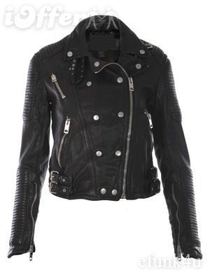 Ladies Soft Lamb Washed Nappa Brit Leather Jacket