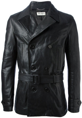 Men's Lamb Nappa Trench Leather Coat