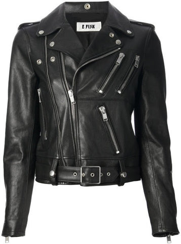 Ladies Soft Lamb Nappa Style Leather Biker Jacket