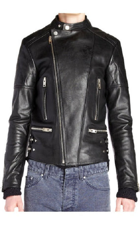 Men's Lamb Nappa Four Pocket Biker Leather Jacket