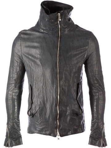 Men's Lamb Nappa Tumble Washed Biker Leather Jacket