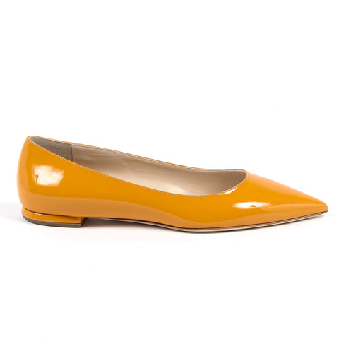 Andrew Charles By Andy Hilfiger Womens Ballerina Orange BALTIMORE