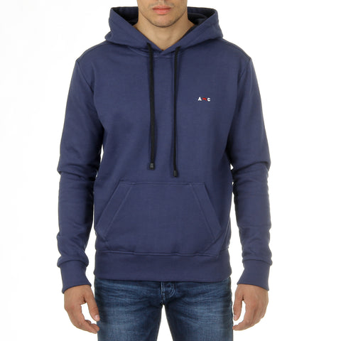 Andrew Charles Mens Hoodie Long Sleeves Round Neck Blue FIFI