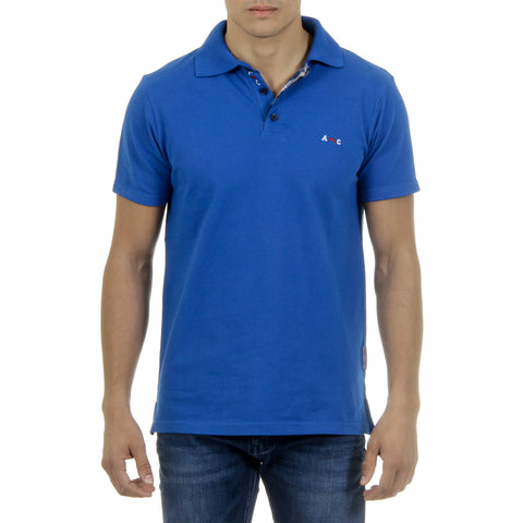 Andrew Charles Mens Polo Short Sleeves Blue SEMELO