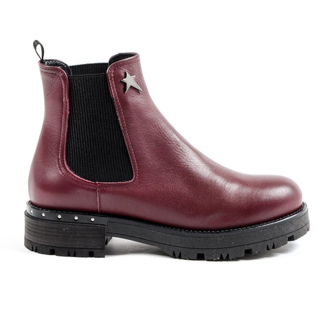 Andrew Charles Womens Ankle Boot Bordeaux CHRISSIE