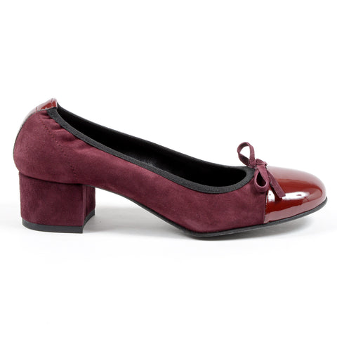 Andrew Charles Womens Ballerina Bordeaux FLORENCE